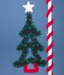 Pole Mount Garland Tree, Pole Mount 7.5 Feet
