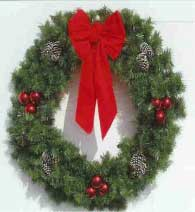Garland Building Front Wreath 5 Feet