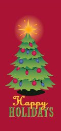 Happy Holidays Christmas Tree Banner