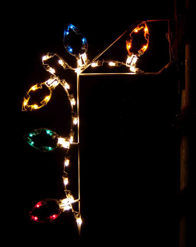 Holiday Light Bulb Banner Enhancer, 5 feet