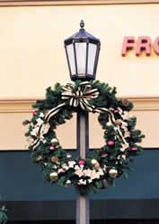 holiday christmas lamp post decorations