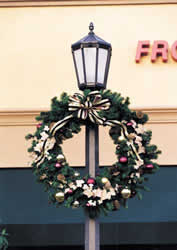 holiday christmas lamp post decorations - Christmas Lamp Post Decoration