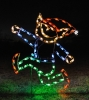 Silhouette Elf Running - outdoor LED lights