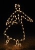 Victorian Skater Woman LED Outdoor Holiday Light Decoration