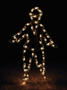 Victorian Ice Skater Boy Commercial Silhouette Holiday LED Light Display