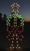 Large, Colorful Lamppost with Wreath and Bow 8 Feet LED Outdoor Light Decoration