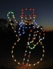 Large Animated Waving Snowman Outdoor LED Holiday Light Decoration