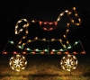 Extra Rocking Horse Train Car Commercial Outdoor Light Decoration