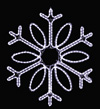 Gorgeous Single Loop hanging snowflake featuring pure white RL LED light outdoor winter decorations