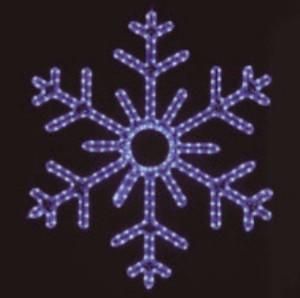 Hanging 60 inch 6-Point Snowflake - Blue