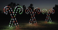 Large Crossed Candy Canes Scene Display Commercial Christmas Holiday LED Light Decorations