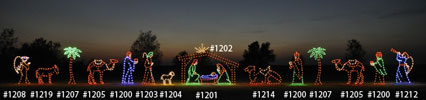 Large, Colorful Nativity Scene Display - commercial decorations