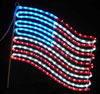 United States Flag Outdoor LED Rope Light Decoration