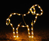 Large 3.4 feet tall standing lamb nativity scene holiday light decoration with C7 LED lights