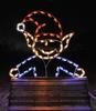 Santa's Helper Elf Peeking from top Commercial Holiday Lights Display