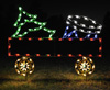 Extra Gondola Train Car with Drum  Commercial Outdoor Light Decoration