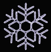 Gorgeous hexagon hanging snowflake featuring pure white RL LED light outdoor winter decorations