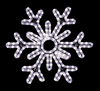 Gorgeous 6-point hanging snowflake featuring pure white RL LED light outdoor winter decorations