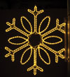 Single Loop Snowflake, 3 Ft. Pole Decoration in Warm White