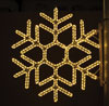 Hexagon Snowflake, 3 Ft. Pole Decoration in Warm White