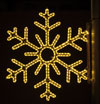 6 Point Snowflake, 3 Ft. Pole Decoration in Warm White