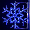Blue Garland Snowflake, 4 Ft. Pole Decoration